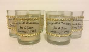 Anniversary Table Centerpieces by Happy 50th Wedding Anniversary Party Decor Set Of 12 Votive