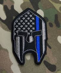 Subdued American Flag With Thin Blue Line Subdued Thin Blue Line American Flag Spartan Patch For Law