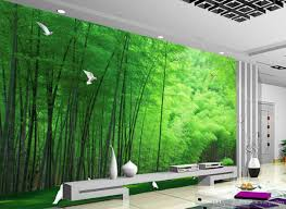 Forest Mural by Beautiful Bamboo Forest Pigeon Background Wall Mural 3d Wallpaper