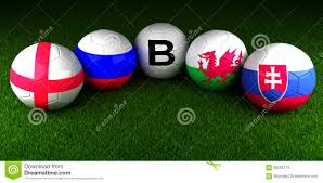 uefa euro 2016 balls with the flag of group b england russia wal