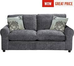 Buy HOME Tessa  Seater Fabric Sofa Bed Charcoal At Argoscouk - The best sofa beds 2