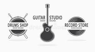 imagenes logos musicales set of vintage musical instrument logos vector stock vector
