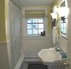 Small Bathroom With Window Vintage Small Bathroom Ideas Come With Gray Granite Wall And Brown