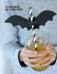 alice and loishalloween bat straw topper