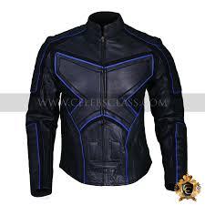 buy biker jacket x men wolverine black and blue biker jacket celebrity leather jackets