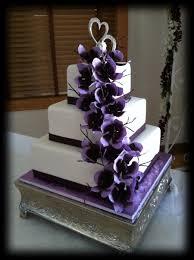 purple sugar orchid wedding cake cakecentral com