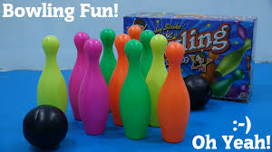 fun toys for the family a bowling play set unboxing and playtime