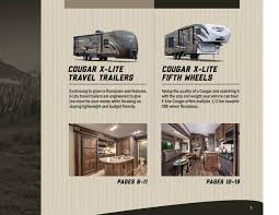 cougar floor plans 2016 keystone rv cougar xlite brochure rv literature