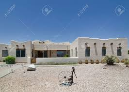 adobe style home adobe ranch style home in southwest usa stock photo picture and