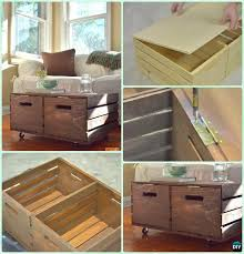 Wine Crate Coffee Table Diy by Diy Wood Crate Coffee Table Free Plans Picture Instructions