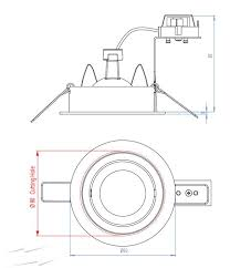 ax5574 taro 5574 12v adjustable round downlight in brushed