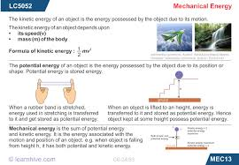 learnhive icse grade 6 physics work and energy lessons