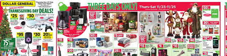 dollar general thanksgiving day black friday sales nov 19 to