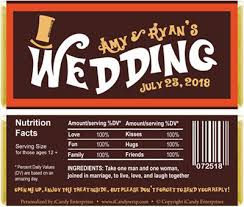 wonka bars where to buy willy wonka inspired wedding candy bar wrappers
