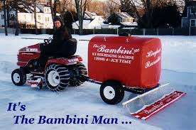 Build A Backyard Ice Rink The Bambini Ice Resurfacing Machine Ice Resurfacing Equipment