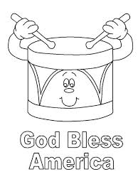 god bless america on presidents day coloring page download