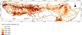 Map Of Sub Saharan Africa by Remote Sensing Free Full Text How Reliable Is The Modis Land
