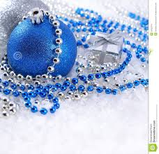 silver and blue decorations stock photo image 34322574