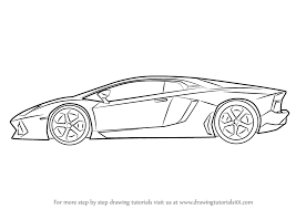 lamborghini car drawing learn how to draw lamborghini centenario side view sports cars