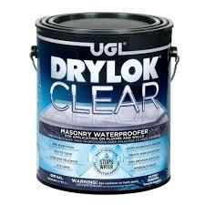 drylok 1 gal clear masonry waterproofer 20913 the home depot