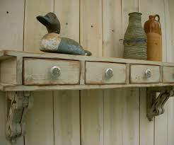 Shabby Chic Wall Shelves by Wall Storage Home Office Floating Wall Desk Rustic Mail