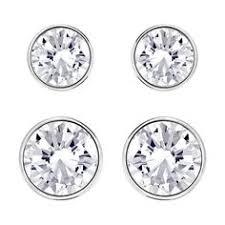 sheena pierced earrings swarovski sheena pierced earrings bejeweled
