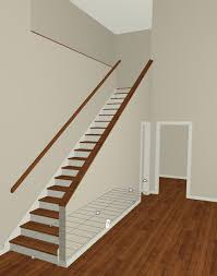 Banister Attachment X6 Halfwall Next To Stairs