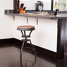 amazon com henry industrial design adjustable height bar stool