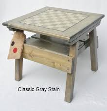 Outdoor Checker Table Made From Checkers And Activity Table Outdoor Wooden