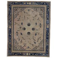 Chinese Aubusson Rugs Antique Chinese Peking Rug With Chinoiserie Style For Sale At 1stdibs