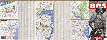 Back Bay Boston Map by Boston Map By Vandam Boston Streetsmart Map City Street Maps