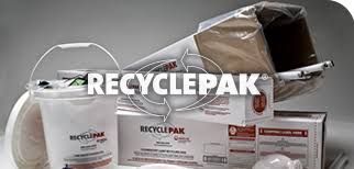 recyclepak containers for lamp bulb ballast battery mercury