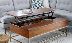 coffee table storage coffee table ottoman crate large hidden gun