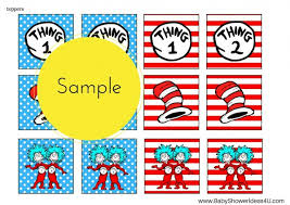 Thing One And Thing Two Party Decorations Free Dr Seuss Thing 1 Thing 2 Twins Party Printable Birthday