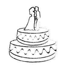 wedding cake hand draw royalty free vector image