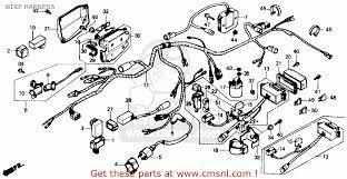 honda trx350 fourtrax 4x4 1986 g usa wire harness schematic