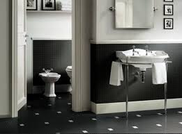 black and white tile bathroom ideas bathroom attractive wall mounted sink and mirror feat white tub