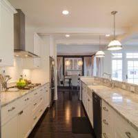 modern galley kitchen decorating design ideas using large glass