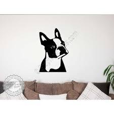 Boston Terrier Flag Boston Terrier Wall Sticker Vinyl Mural Decal