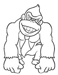 Donkey Kong 11 Jeux Vidéos  Coloriages à imprimer