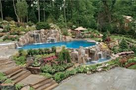 Luxury Backyard Designs Backyard Swimming Pool Inground Landscaping Network