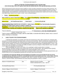 sample waiver of liability receipts template