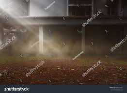 halloween concept creepy yard old house stock photo 688521457