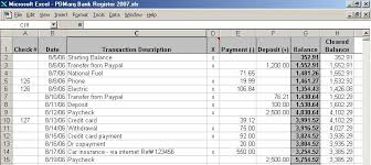 checkbook register for excel pdmarq checkbook register excel open office xp vista