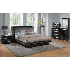 Bedroom Dressers With Mirror Dimora Dresser With Deck And Mirror Black Value City Furniture