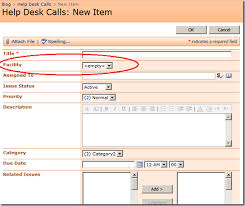 Sharepoint Help Desk Sharepoint Populating Drop Down List Field With Data From