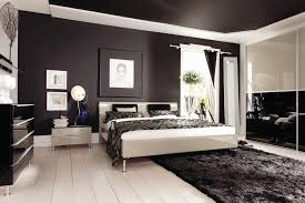 luxury modern black bedroom interior decorating ideas with mosaic