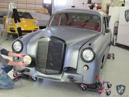 matte grey vinyl wrap mercedes benz 220s ponton nwas mercedes