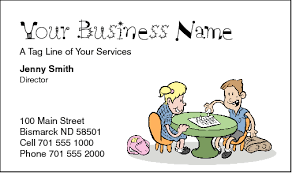 childcare business cards business cards for childcare