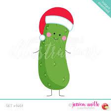 christmas pickle christmas singles jw illustrations